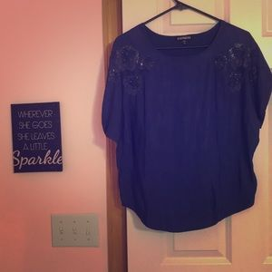 Deep blue dressy top from Express
